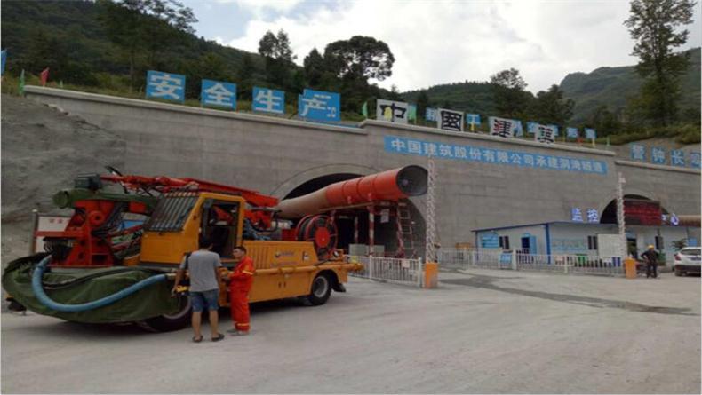 混凝土湿喷机 SP-2515洞湾隧道施工