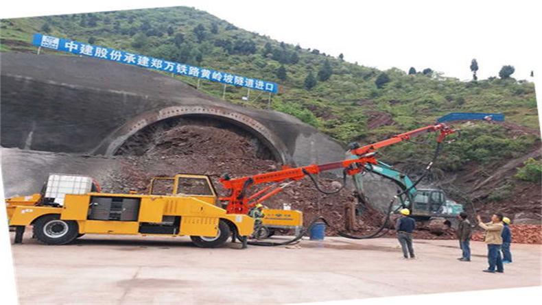 混凝土湿喷机 SP-2515郑万铁路黄岭坡隧道进口
